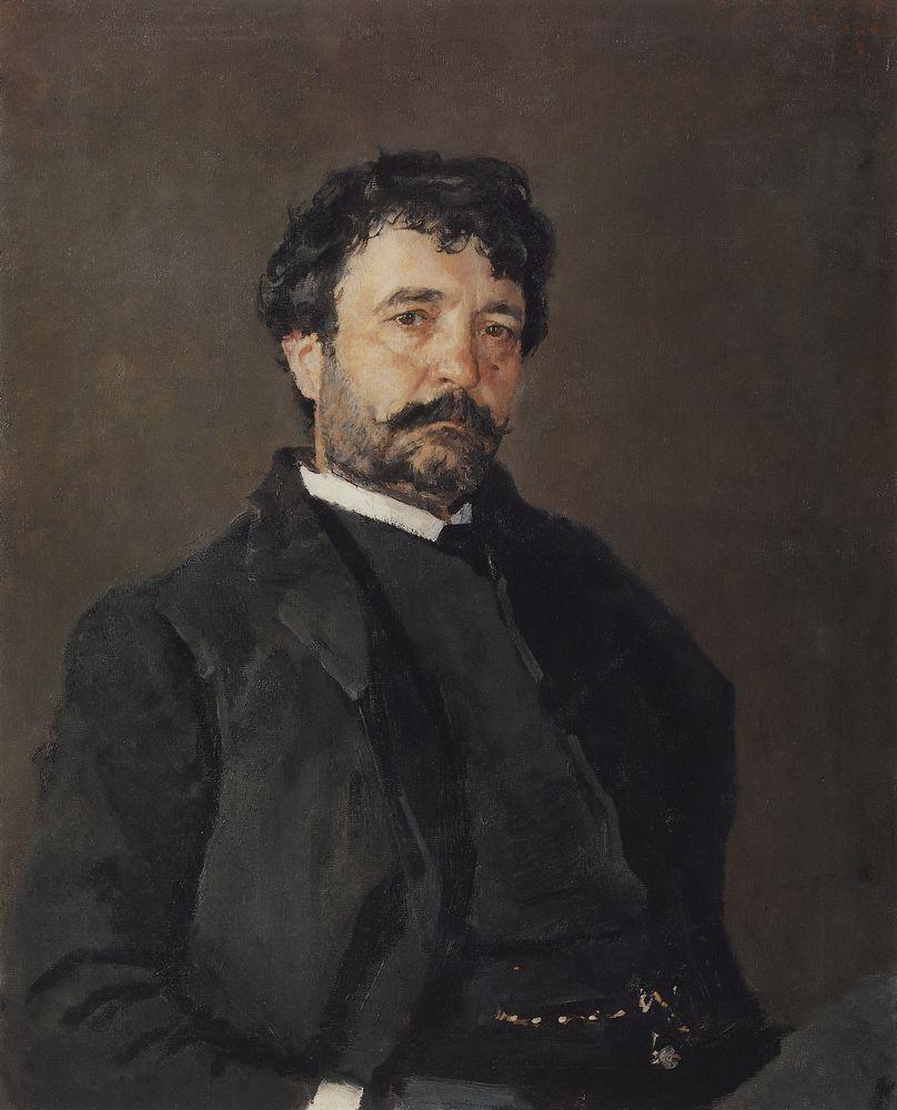 Валентин Серов. Портрет итальянского певца Анджело Мазини. 1890