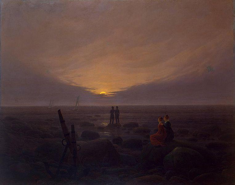Каспар Давид Фридрих. Восход луны над морем. 1821