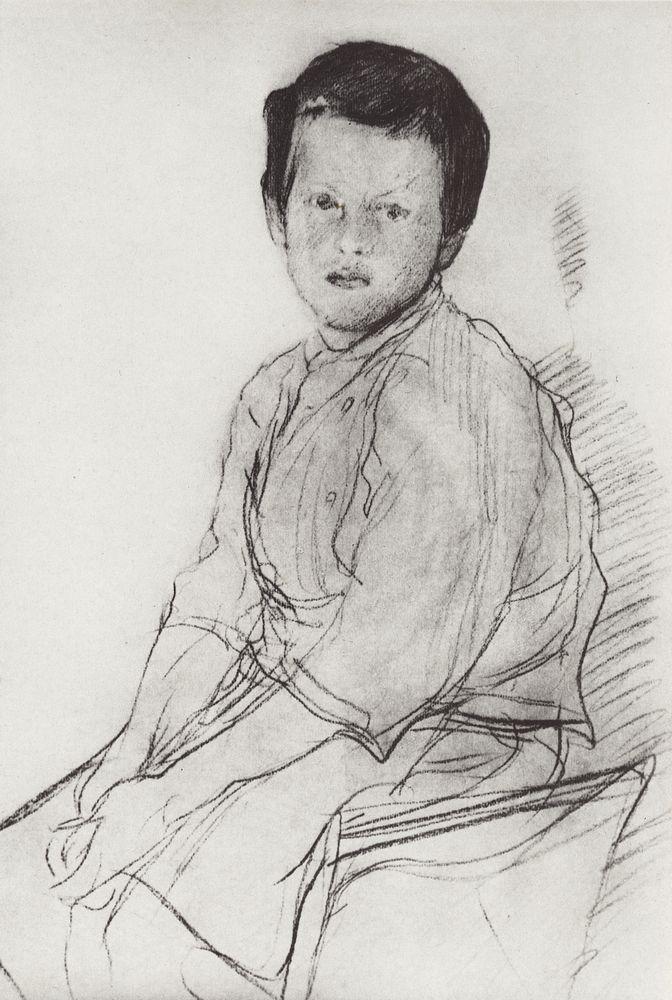 Валентин Серов. Портрет Миши Серова. Конец 1890-х