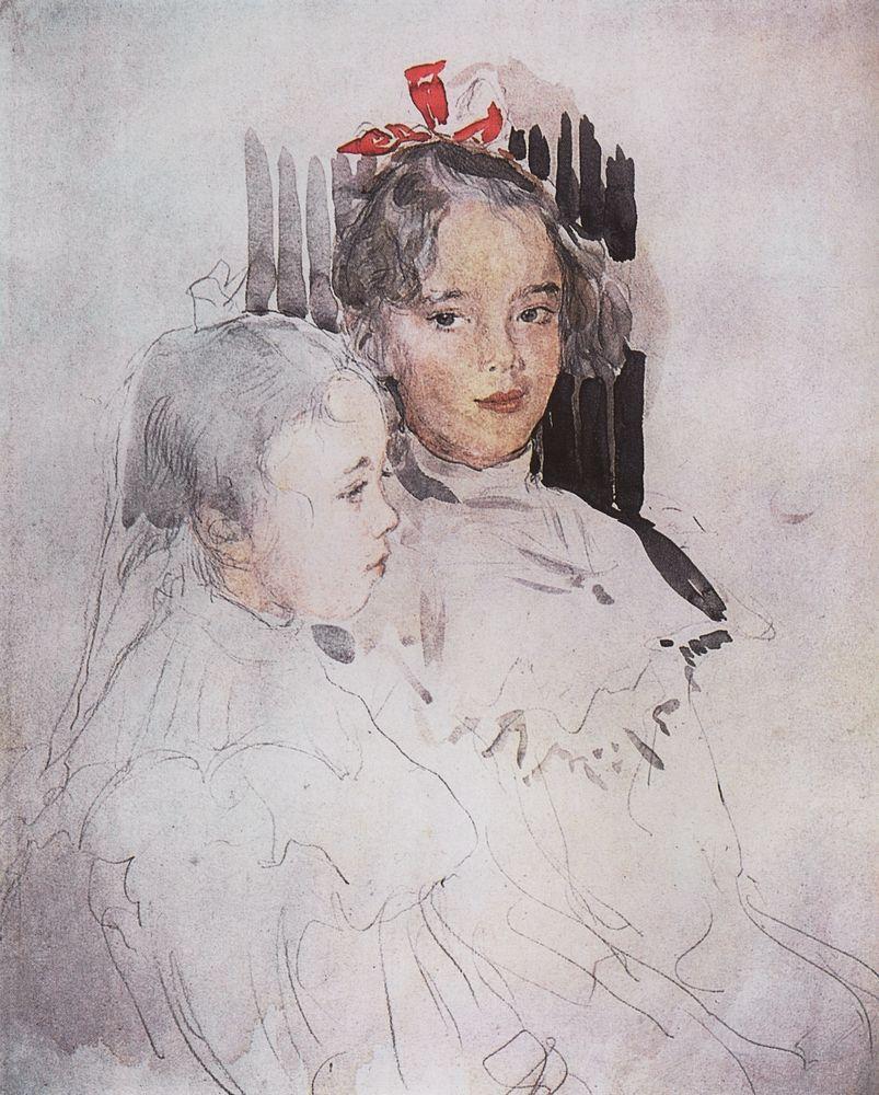 Валентин Серов. Портрет детей С.С.Боткина. 1900