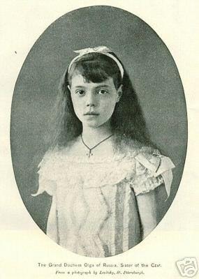 Великая княжна Ольга Александровна в детстве
