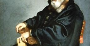 Джованни Баттиста Морони. Портрет старика, сидящего в кресле