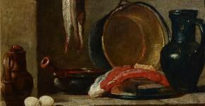 Жан-Батист Симеон Шарден. Натюрморт с кухонной утварью. 1733-1734