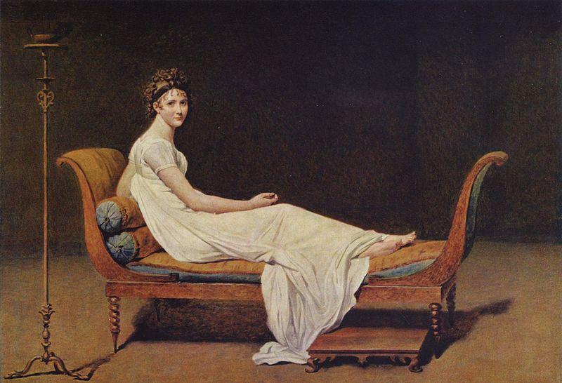 Жак-Луи Давид. Портрет мадам Рекамье. 1800