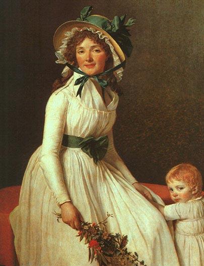 Жак-Луи Давид. Портрет мадам Серизиат. 1795
