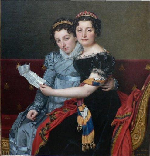 Жак-Луи Давид. Зинаида и Шарлотта Бонапарт. 1821