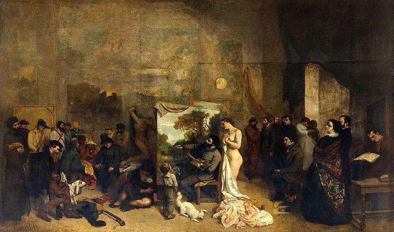 Гюстав Курбе. Мастерская художника. 1855