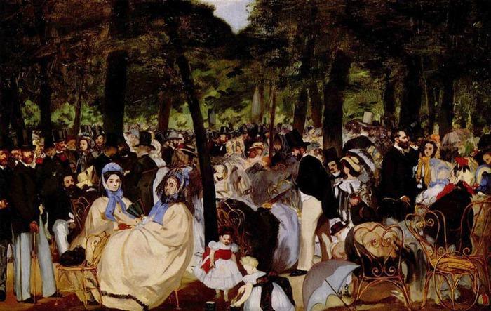 Эдуард Мане. Музыка в саду Тюильри. 1862