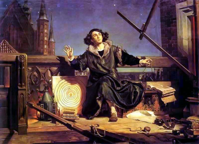 Ян Матейко. Астроном Коперник, беседа с Богом. 1872