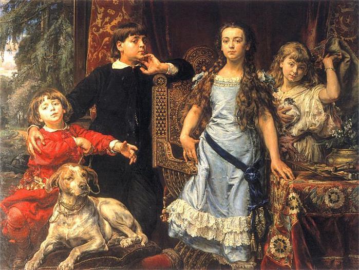 Ян Матейко. Дети художника