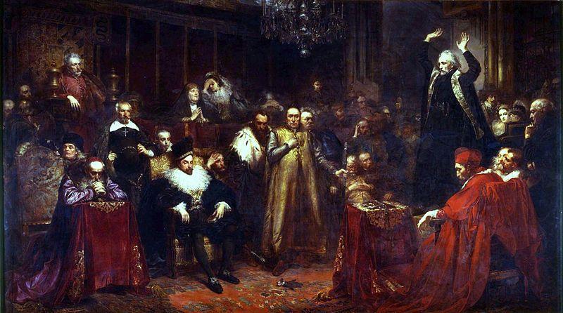 Ян Матейко. Проповедь Скарги.1864