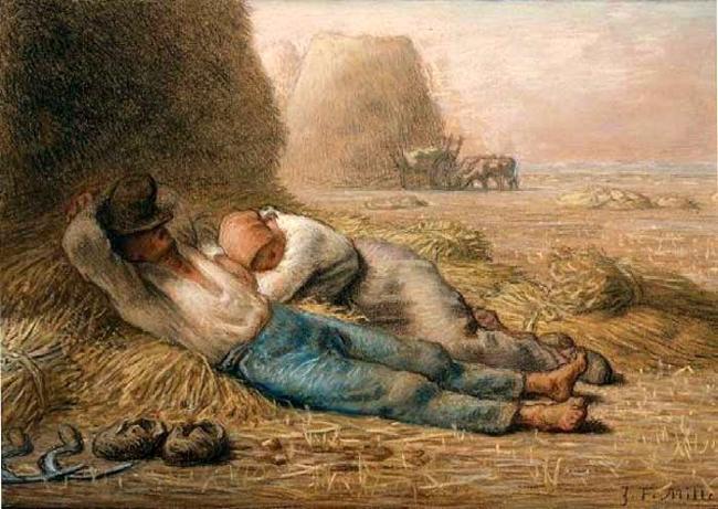 Жан-Франсуа Милле. Полуденный отдых. 1866
