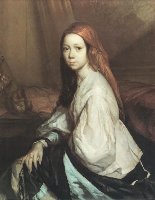 Жан-Франсуа Милле. Портрет Паулины Оно. 1843-44
