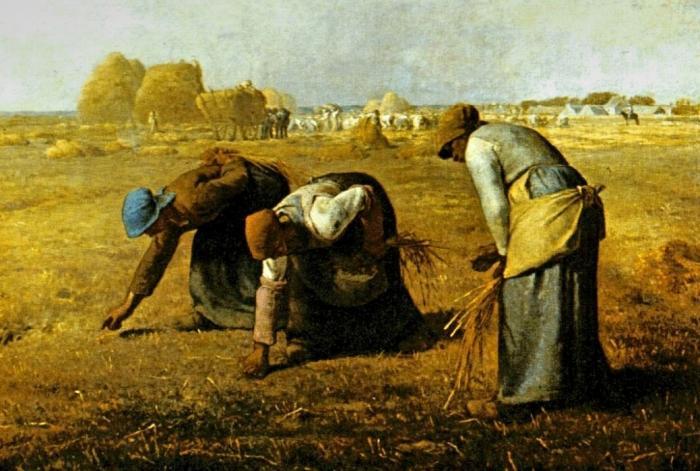 Жан-Франсуа Милле. Сборщицы колосьев. 1857