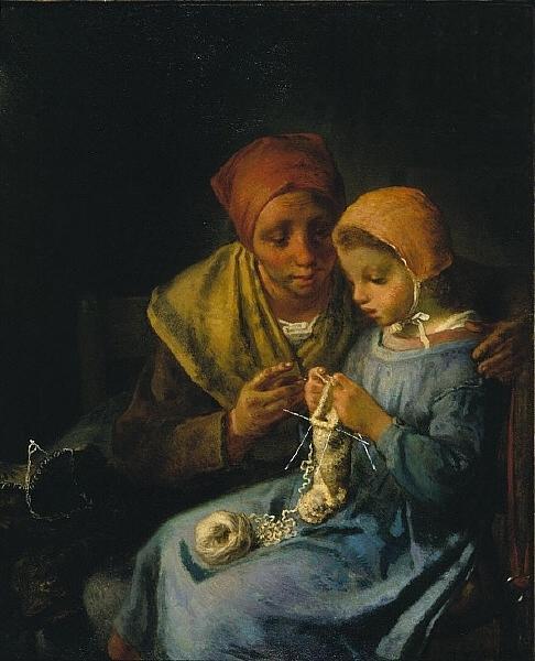Жан-Франсуа Милле. Урок вязания. 1869