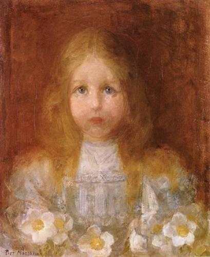Пит Мондриан. Портрет девочки с цветами. 1900-01