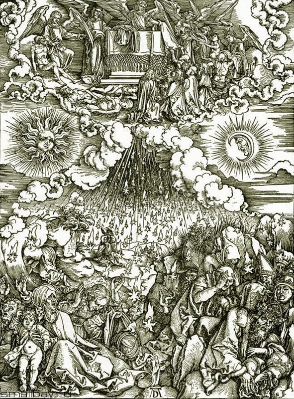 Альбрехт Дюрер. Снятие пятой и шестой печати. 1497