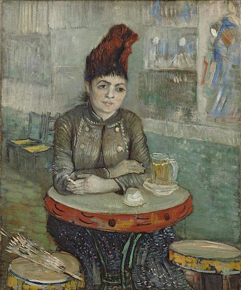 Винсент ван Гог. Агустина Сегатори в кафе Тамбурин. 1887-1888
