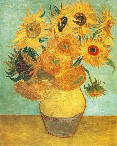 Винсент ван Гог. Ваза с двенадцатью подсолнухами. 1889