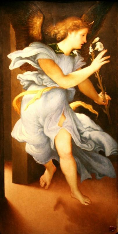 Лоренцо Лотто. Ангел из Благовещения. 1526-27
