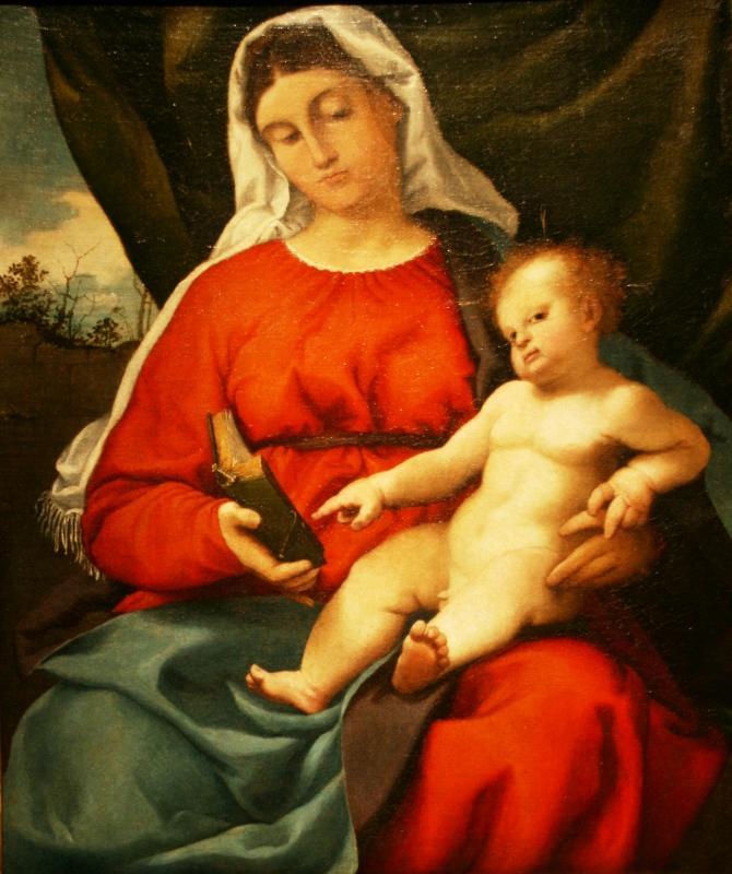 Лоренцо Лотто. Мадонна с Младенцем. 1526-27
