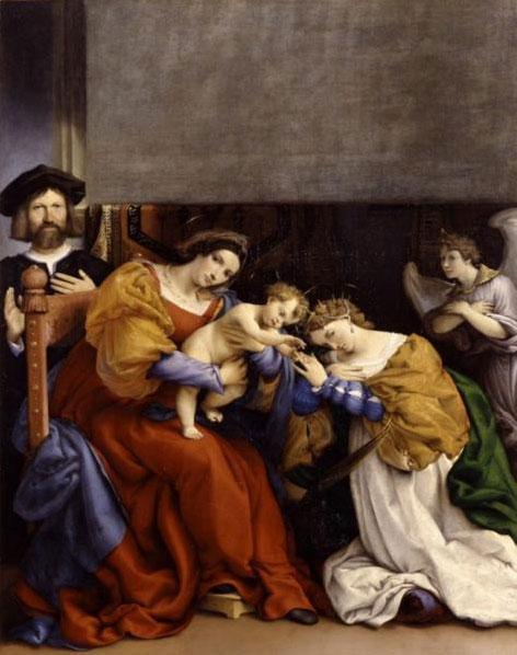 Лоренцо Лотто. Мистическое обручение Святой Екатерины. 1523