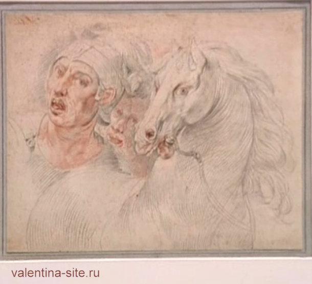Пять веков итальянского рисунка. Подготовительный рисунок для фрески