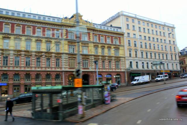 Хельсинки из окна автобуса