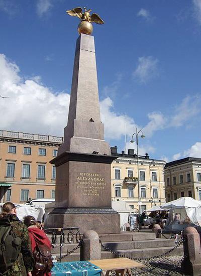 Хельсинки. памятник императрице Александре Федоровне, жене Николая I