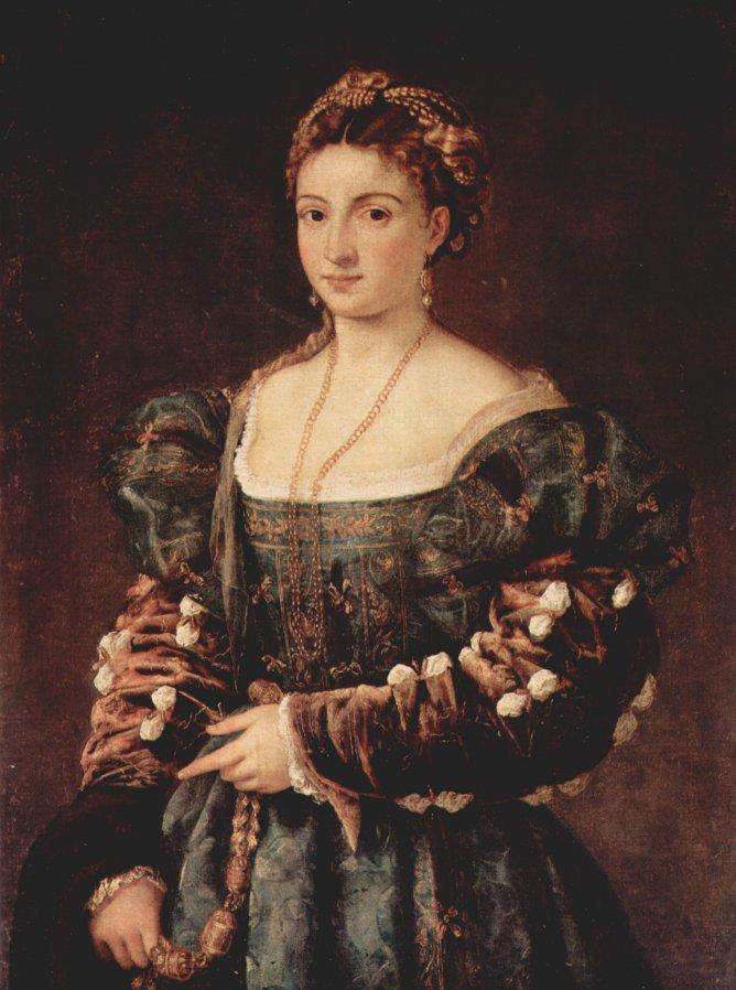 Красавица (La Bella), 1535. Флоренция, Галерея Палатина, Палаццо Питти
