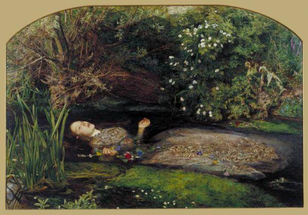 Джон Эверетт Миллес. Офелия. 1852
