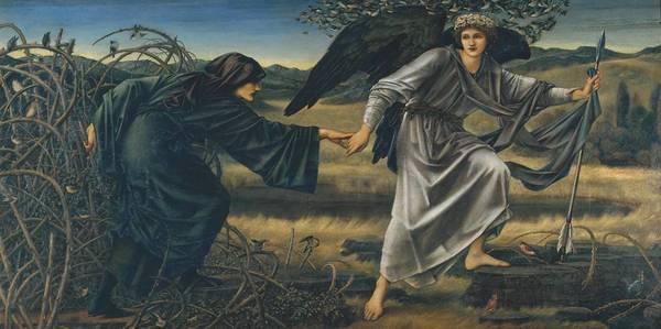 Эдвард Коли Бёрн-Джонс. Любовь и пилигрим. 1896-1897
