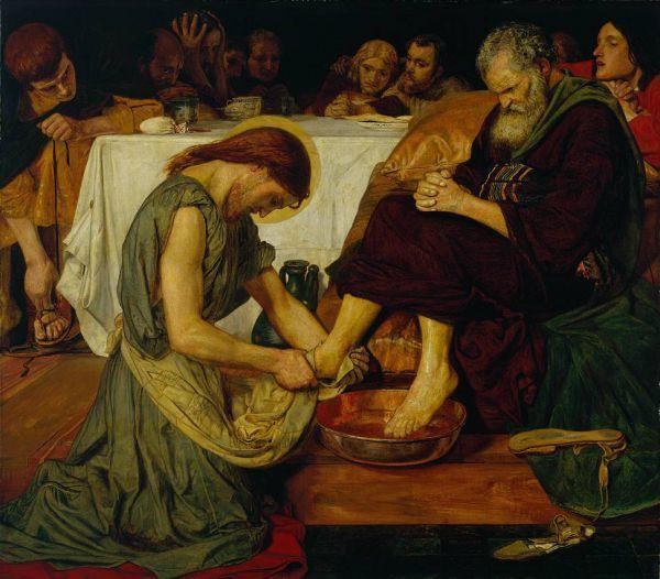 Форд Мэдокс Браун. Христос, омывающий ноги Петра. 1857-1858