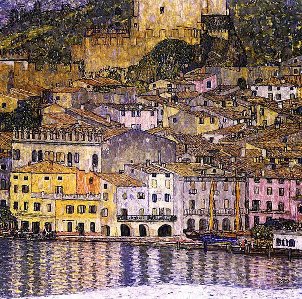 Густав Климт. Мальчезине на озере Гарда 1913