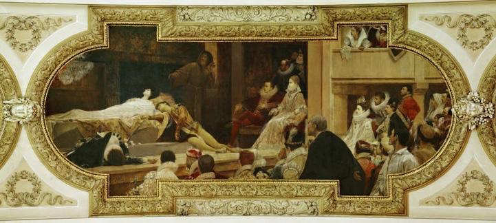 Густав Климт. Роспись потолка в Бургтеатре в Вене 1886