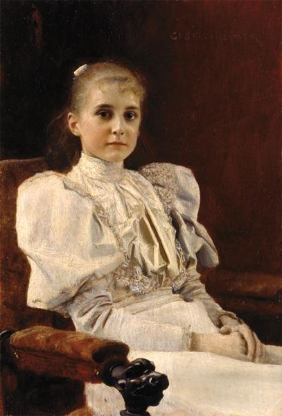 Густав Климт. Сидящая девушка 1894