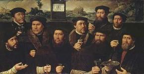 Дирк Якобс. Групповой портрет корпорации амстердамских стрелков (Девять стрелков роты Е). 1561