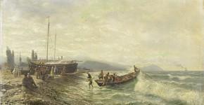 Л.Ф.Лагорио (1827-1905). Кавказский пейзаж. 1873 год