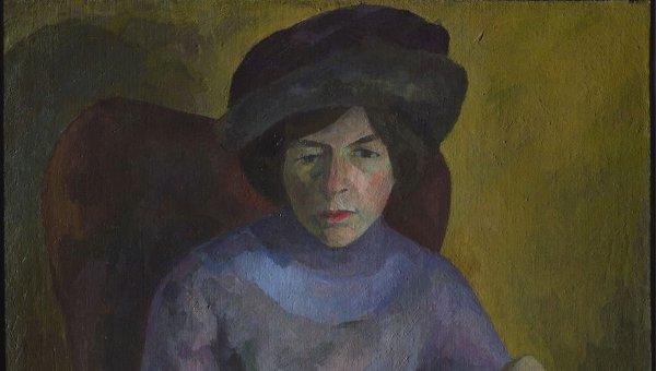 Роберт Фальк (1886-1958). Женщина в лиловом.
