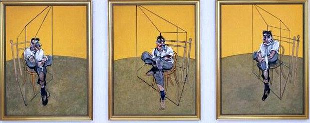 Френсис Бэкон. Три наброска к портрету Люсьена Фрейда. 1969