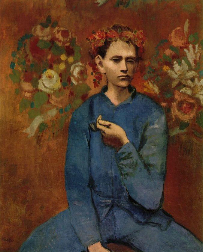 Пабло Пикассо. Мальчик с трубкой. 1905