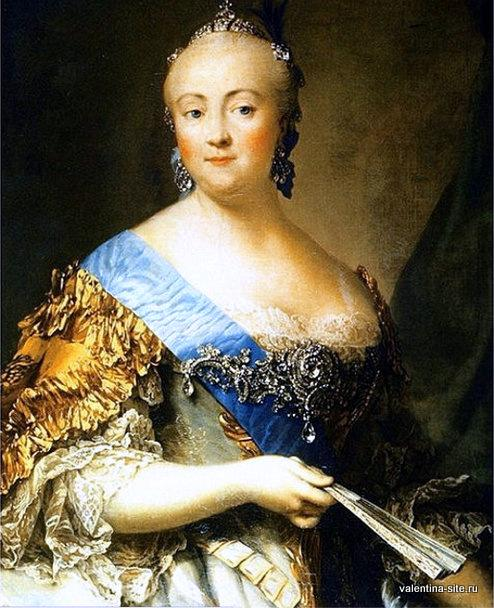 Императрица Елизавета Петровна. Портрет работы придворного живописца Виргилиуса Эриксена