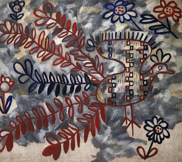 Павлин (стиль русской вышивки). 1911 Из серии Художественные возможности по поводу павлина
