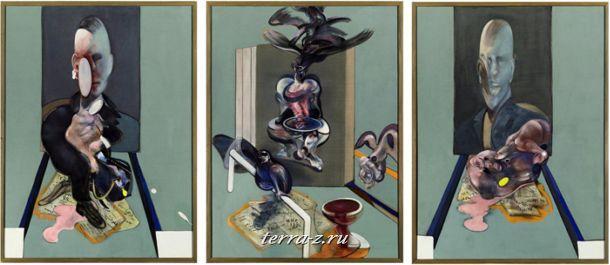 Френсис Бэкон. Ориентир канонического ХХ века.Триптих. 1976