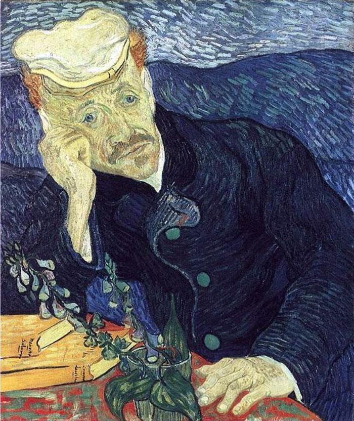 Винсент Ван Гог. Портрет доктора Гаше. 1890