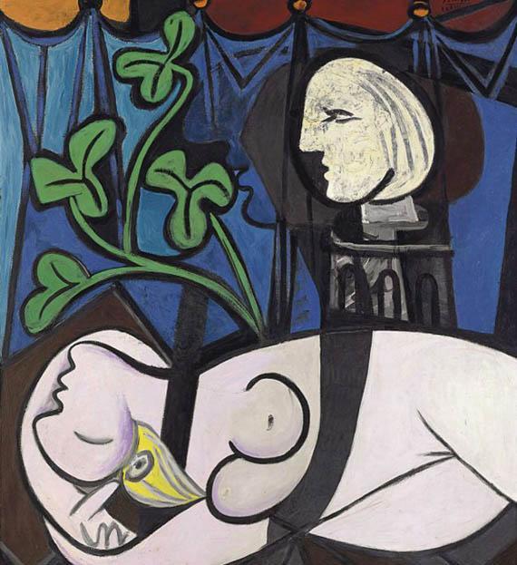 Пабло Пикассо. Обнаженная, зеленые листья и бюст. 1932