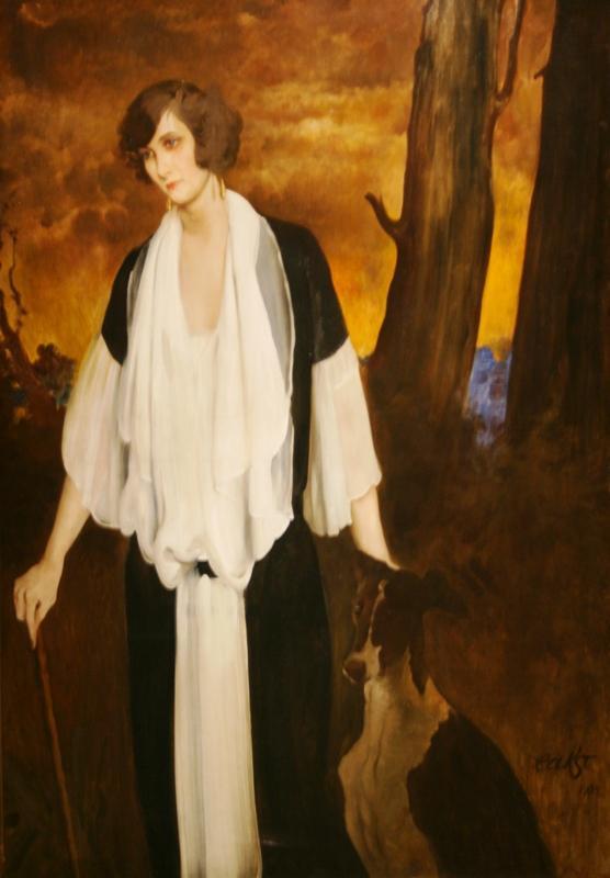 Лев Бакст «Портрет Рэчел Стронг, будущей графини де Буажелен» 1924