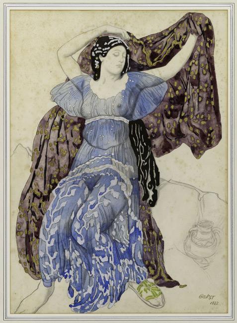 Лев Бакст. Эскиз костюма к балету Нарцисс - Нимфа Эхо 1911
