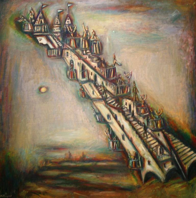 Александр Тышлер «Наклонная башня. Из серии «Архитектура» 1976