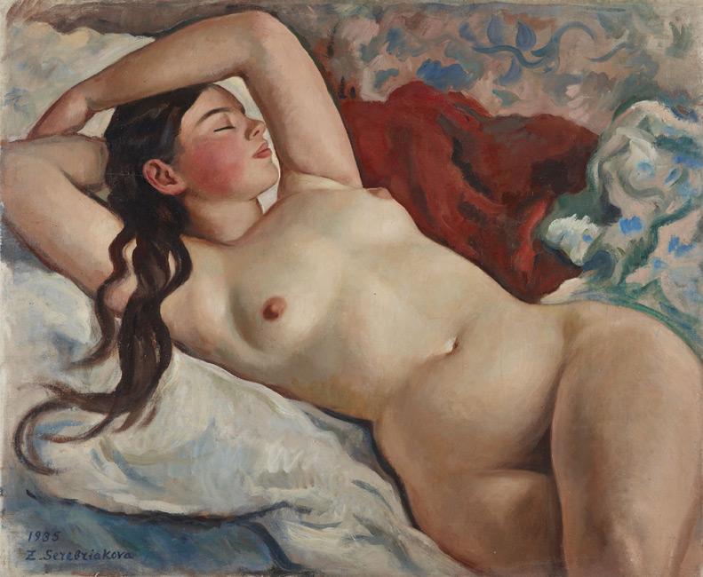 Зинаида Серебрякова «Портрет мадемуазель Неведомской» 1935
